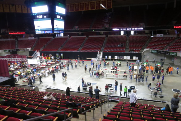 The IT Olympics at Hilton Coliseum in Ames, Iowa