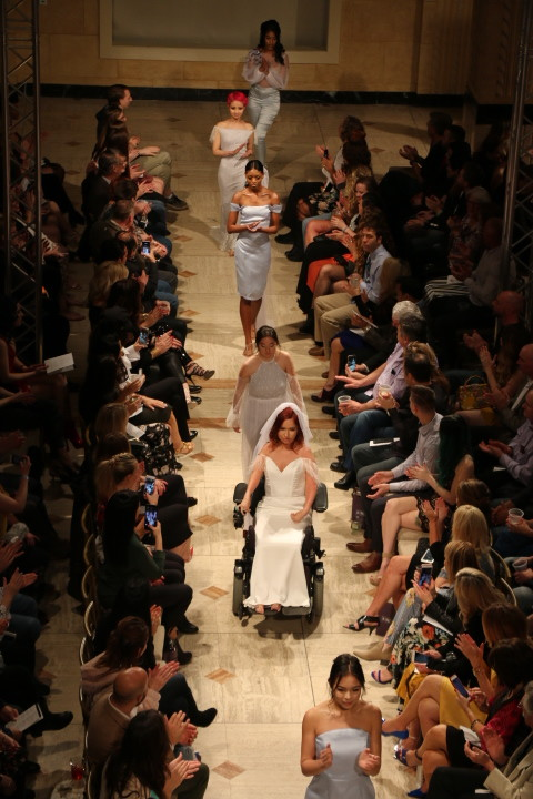 Designer Tobie Marie started the show with her bridal line that is inclusive of all types of women.