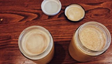 glass jar lattes