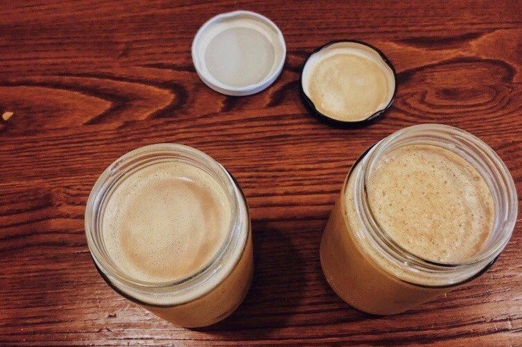 glass jar lattes