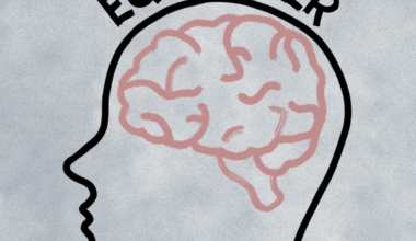 An outline of a head with a brain inside and the word 'Equalizer' written above the head.