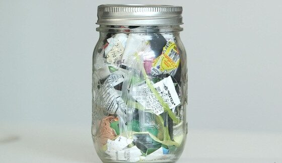 Lauren Singer collected four years of trash in one glass jar.
