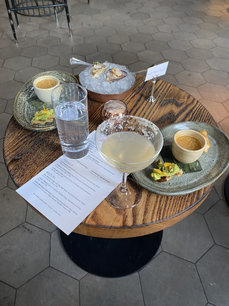 Oysters, Margaritas, & Hors D'Ouvres Served at Topolobampo